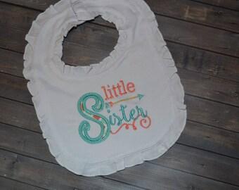 Little Sister Ruffle Bib
