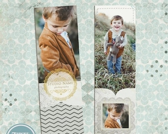 ON SALE Bookmark, Digital Bookmark Template, Photoshop template, psd files, Instant Download