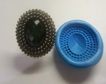 Green brooch silicone mould
