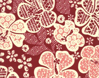 Hawaiian Hibiscus - Transpacific Textiles - BQ-13-947 RED(sold by the 1/2 yard)