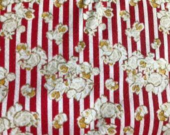 FLANNEL - Movie Theater Popcorn Fabric - Popcorn Flannel - Friday Night Movie Fabric - Popcorn Fabric - Drive In Movie Fabric - Movie Ticket