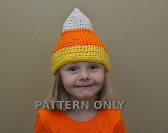 Candy Corn Hat Crochet PDF Pattern