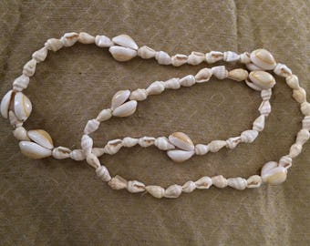 Vintage Shell Necklace, 32 inches long
