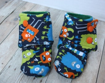 Stay-on baby booties - size 3-6 months - adorable, brightly colored, customizable