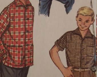 Vintage Simplicity 1781 Sewing Pattern Boys Shirt Size 10