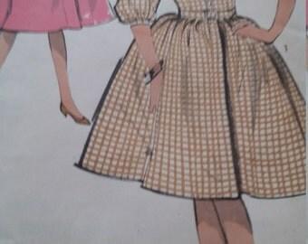 Vintage Advance 3012 Sewing Pattern Size 10 Girls One-Piece  Dress 1960s Fashions