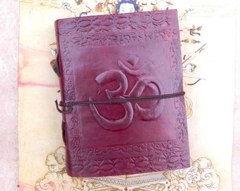 Om Leather Journal Notebook