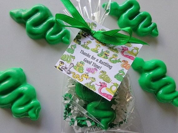10 Snake Party Favors, Rattlesnakes, Boys, Birthdays, Party Soap Favors