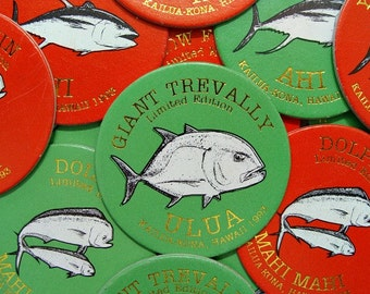 1993 LIMITED EDITION Kailua-Kona Hawaii (15) POGS Fish