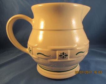 Longaberger Woven Traditions Heritage Green 32 Oz pitcher
