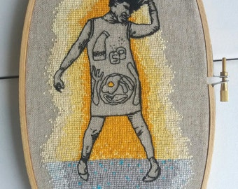 Polly Styrene embroidery