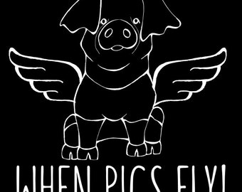 Hereford - When Pigs Fly Decal