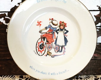 Vintage Holly Hobbie Fourth of July Plate