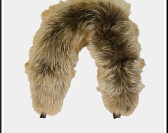 Glacier Wear Ranch Raised Red Fox Fur Ruff 24 inches