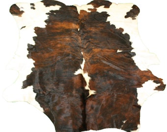 Glacier Wear Cow Hide Leather Hair-On Rug #014