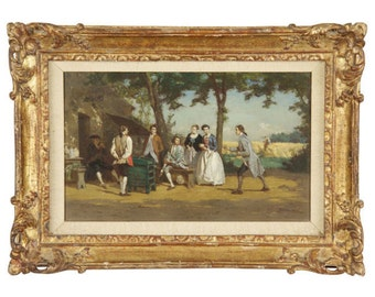 "Jean Pezous (French, 1815-1885), ""Bon Vin"", Genre Scene Painting, 1402VAP22PZ"