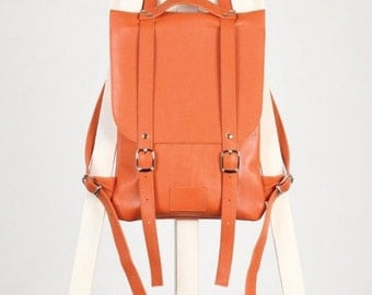 SALE / Saddle Brown leather backpack rucksack / In stock /