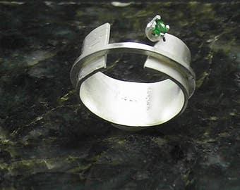 Tsavorite Garnet Ring Sterling Silver