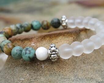 Moonbead Bracelet - African Turquiose