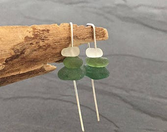 Sea Glass Sea Green Earrings
