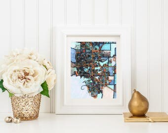 Abstract Map Print of Boulder CO
