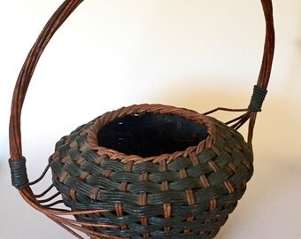 Rare unusual Woven Basket