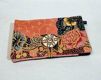 Notebook, Peach, Coupon Organizer, Thai Batik, List Maker, Wallet, Paper, Pen