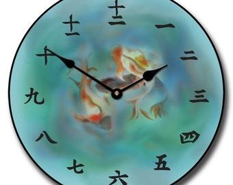 Japanese Koi Wall Clock