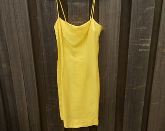 Vintage Heiser 1960s yellow slip dress