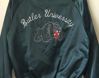 Vintage 1970's Butler University satin bulldog jacket