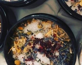 Natural Herbal Bath Soak, Bath Salts, Relaxing, Calming, Healing, Herbs & Essential Oils, Aromatherapy Bath, Bath Soak, Care package, Gift