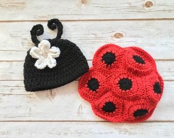Ladybug crochet pattern, Pattern for baby ladybug outfit, crochet pattern, baby crochet patterns, baby photo prop patterns, crochet pattern
