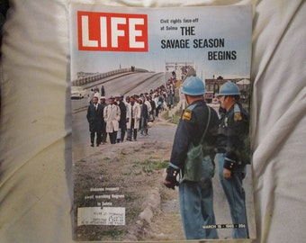 Vintage Life Magazine March 19 1965 The March To Selma