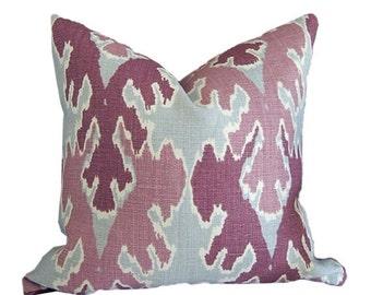 Designer Pillow Cover Kelly Wearstler Bengal Bazaar by Groundworks in Magenta