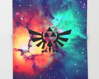 Zelda Blanket, Triforce Throw Blanket, Hylian Royal Crest Stars Blanket, The Legend of Zelda Blanket, Zelda Throw Blanket, Nintendo Blanket