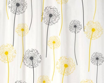 Dandelion Floral Shower Curtain You PICK COLORS Standard Or Extra Long  Length 70, 78, Part 63