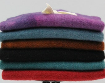 Royal: Fat Sixteenth Six Pack of Hand-dyed Wool for Rug Hooking & Applique Quilts