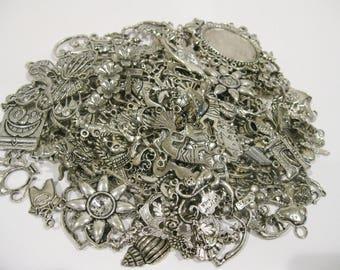 Charm Lot 75 Pieces Tibetan Silver Charms