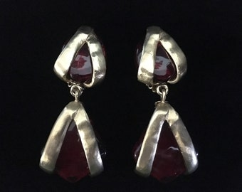 """Rare Vintage Les Bernard """"Runway Style"""" Valentine Earrings (Tier 2)"""