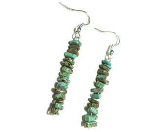 Crystal Earrings - Dangle - Magnesite - Healing Crystals - Self-Esteem - Joy - Heart Mind Harmony