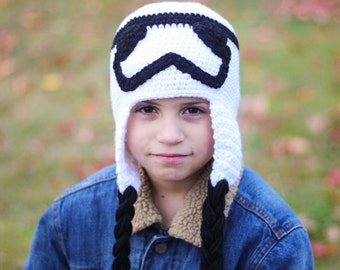 StormTrooper Inspired Hat/ Star Wars Inspired Hat/ Boys winter Hat/ Boys Hat/ Star wars gift/ Winter Hat/