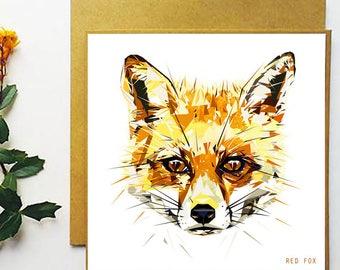 Fox - Greetings Card - Handmade - Illustration - Art - Design - Nature - Wildlife - Gift