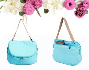 Sky Blue Messenger Bag