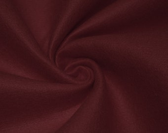 Burgundy Acrylic Craft Felt Fabric By the Yard Style 3009
