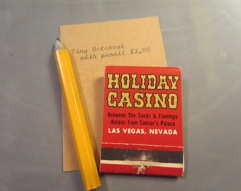 Tiny Matchbook Notebook with Harrah's image.