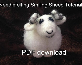 Needlefelted Smiling Sheep tutorial PDF