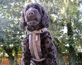 Harris Tweed Dog Harness