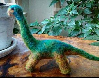 Handmade Felted Dino
