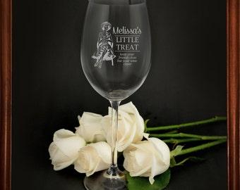 Engraved 360ml Barware Wine Glass