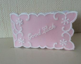 Gift Card - Parchment Craft, flowers, blank , good luck , wedding, birthday